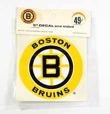 "Vintage 1970's Boston Bruins 5"" One-Sided Decal Sticker NIP"