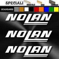 3 adesivi sticker NOLAN prespaziato, auto,tuning moto,decal casco  9,5 cm