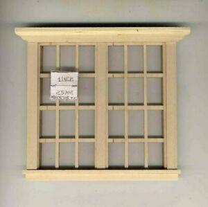 Window - Traditional Double 6/6 - w/ Header  435 miniature 1:12 scale USA made