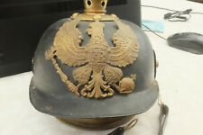 WW1 GERMAN PRUSSIAN PICKELHAUBE TIN  Helmet.