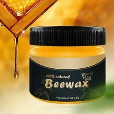 Natural Wood Seasoning Beewax Polish for Furniture, Floor Protectant&Cleaner 80g