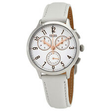 Fossil Abilene White Dial Ladies Chronograph Watch CH4000