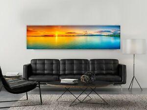 Sunrise over the sea Canvas Print, Panorama Canvas Wall Art