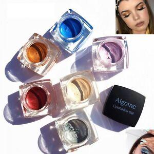 6 Colors Waterproof Shimmer Eye Shadow Cream Makeup Long-lasting Mineral