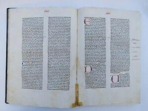 BIBLE INCUNABLE, Paris 1476-1477