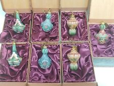 Lot of 7 G. Debrekht Hand-Painted Ornaments