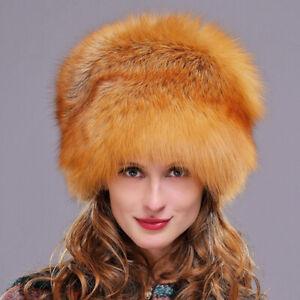 Real Genuine Fox fur hat raccoon fur Mongolian ear protection princessCap Beanie