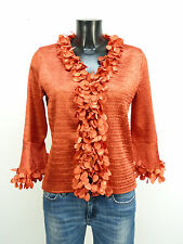 KRISS BLUSE TUNIKA GR M-L / ORANGE & WIE NEU - LUXUS PUR    ( N 0367 Z )