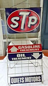 ORIGINAL VINTAGE STP OIL & GASOLINE TREATMENT DISPLAY RACK