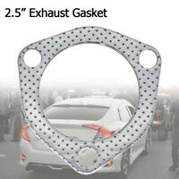 Exhaust Down Pipe Manifold Gasket Car Tuning 2.5'' 3 Bolt Hole For Honda Civic