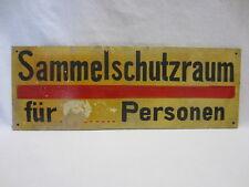 """SCHILD """"SAMMELSCHUTZRAUM"""" - um 1940-45 - LUFTSCHUTZ-RAUM - Hartfaser-Platte"""