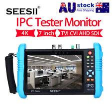 "SEESII 7"" 4K IPC Camera TVI CVI AHD SDI CVBS CCTV Tester Monitor 1280*800 Local"