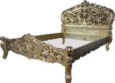 Bed King Gold Leaf Rococo French Provincial SRP $5000