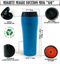 Mighty Mug GO Suction Travel Coffee Mug, Non Split BIG Flask Thermos 500ml Blue