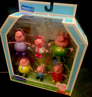 Peppa Pig Peppa's Perfect Day Family 6 Figures, Walmart Exclusive, Sparkly Dress