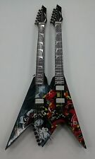 Miniature Guitar (24cm Tall) : MEGADEATH DEAN DAVE MUSTAINE TWIN NECK DIADEM