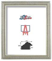 "US ART Frames .875"" Ornate Silver Polystyrene Picture Poster Frames, S-B"