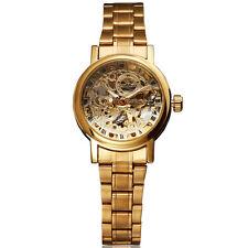 Vintage Gold Auto Mechanical Watch Women Luxury Fashion Full Steel Lady Relojes