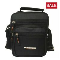 Unisex Messenger Bag Black Cross Body Shoulder Sling Utility Sports Travel Work