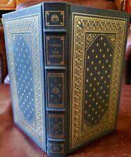 THE AENEID by Virgil LEATHER & GOLD GILT ART DECO FRANKLIN LIBRARY WOODCUT ILLU
