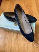 Etienne Aigner Navy Blue Leather Shoes Women's Size 6m