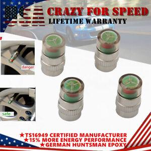 4X Car Auto Tire Pressure Monitor Valve Dust Cap Pressure Indicator Sensor Alert