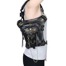 Steampunk Leather Punk Fanny Waist Messenger Shoulder Drop Leg Holster Hip Bag