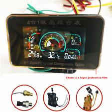 4in1 Car LCD Oil Pressure Gauge+Voltmeter+Water Temperature Gauge+Oil Fuel Gauge