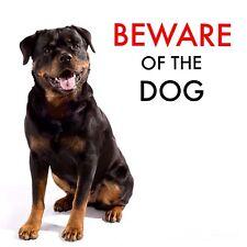 BEWARE OF THE DOG - ROTTWEILER WARNING - LAMINATED SIGN FUN