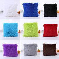 Soft Plush Square Pillow Case Sofa Waist Throw Cushion Cover Home Decoration WW