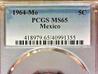 1964-Mo  PCGS MS65  Mexico Five cent--5c