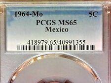 1964-Mo  PCGS MS65  Mexico Five cent--5c