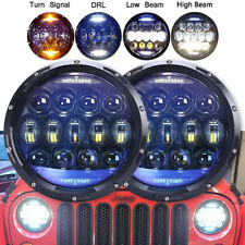2Pcs 130W 7 inch Round LED Headlight for Jeep Wrangler JK TJ LJ JKU Hummer H1 H2