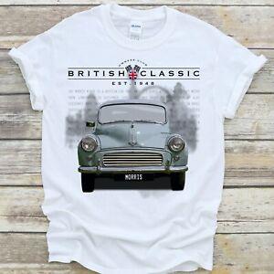 Morris Minor T Shirt British Classic Car Collector Gift - Premium Quality Cotton