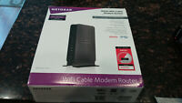 Netgear C3700 Docsis 3.0 N600 Wifi Cable Modem Router WITH BOX EUC