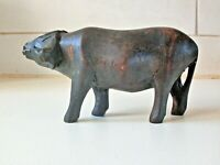 VINTAGE AFRICAN ART HAND CARVED WOOD TANZANIA 1973
