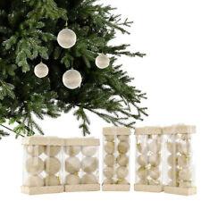 set da 42 PALLE DI NATALE sfere natalizie con pelo e merletto decorazione abete