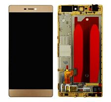 Orig✅ LCD Display Touchscreen Glas Digitizer + Rahmen f. Huawei Ascend P8 - GOLD