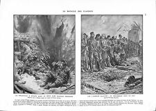 WWI Bataille Ypres Flandres London Scottish Tommies British Army B ILLUSTRATION