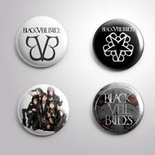 4 BLACK VEIL BRIDES - Pinbacks Badge Button Pin 25mm 1''