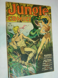 Jungle Comics #37 VG- 1 Page Out classic dinosaur cover KAANGA