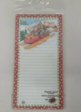 Magnetic List Pad Christmas Animals Mary Engelbreit Sled Ladybug Holiday Note ME