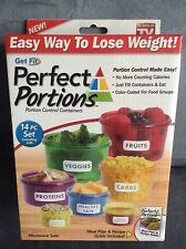 AS SEEN ON TV PERFECT PORTIONS FOOD PORTION CONTROL CONTAINERS - NEW IN BOX