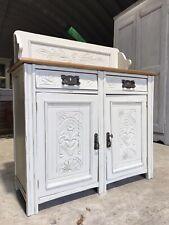 Antique Painted Pine Dresser Sideboard Server Cupboard Kitchen Unit