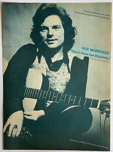 VAN MORRISON 1973 original POSTER ADVERT HARD NOSE THE HIGHWAY Warner Records