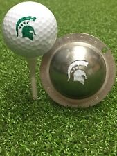 1 only TIN CUP GOLF BALL MARKER - SPARTAN - WARRIOR & YOURS FOR LIFE