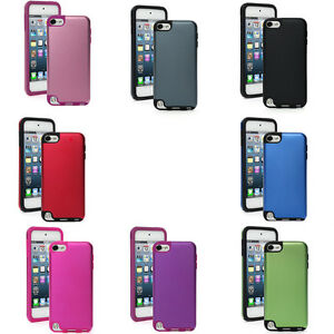 For Apple iPod Touch 4th 5th 6th Shockproof Hard Aluminum w/ Soft Silicone Case