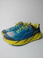 Hoka One One Clifton 1 Men's Size 10.5 Running Shoes Blue Neon Yellow
