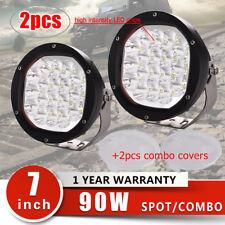 "2pcs 7"" 90W Spot/Combo LED Driving Work Light Offroad 4WD Jeep SUV Truck"