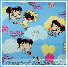 BonEful Fabric FQ Cotton Baby Girl Asian * Ni Hao Kai Lan Nick Jr China Adoption